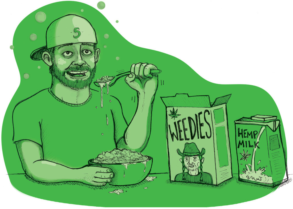 what happens if you eat weed